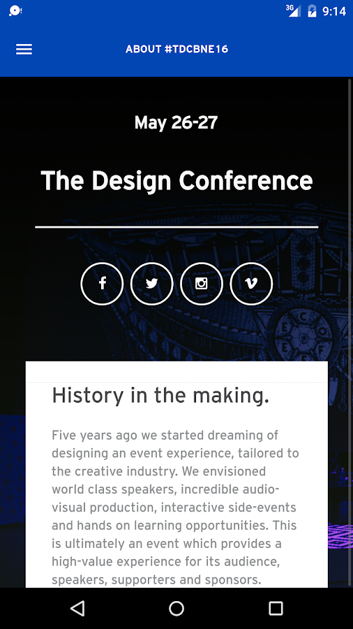 The Design Conference Brisbane- screenshot