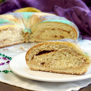 Traditional Mardi Gras King Cake.
