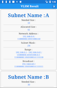 VLSM and Subnet Calculator and MORE - náhled