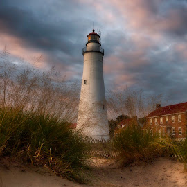 Fort Gratiot Lighthouse  by Robert Shipman - Landscapes Beaches
