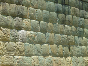 "Photo: The Inca builder's ""A-grade"" masonry:  no mortar"