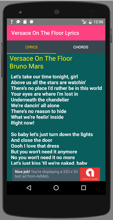 Versace On The Floor Lyrics - Android Apps on Google Play