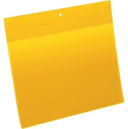Plastficka Plus A4L magnet gul