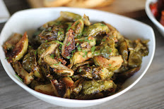FRIED BRUSSELS SPROUTS WITH APPLES