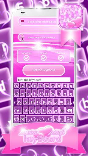 免費下載個人化APP|霓虹粉红色的键盘 app開箱文|APP開箱王