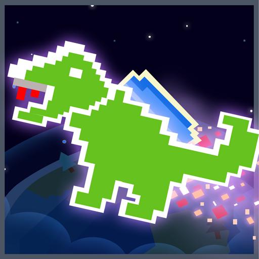 街机の恐竜ジェットパック LOGO-記事Game