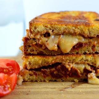 Vegan Walnut, sun dried tomato & basil grilled cheese.