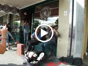Video: Outside the ORIGINAL Starbucks store.