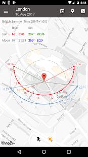太陽位置和日出演示 Screenshot