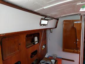 Photo: Trim installed along port salon
