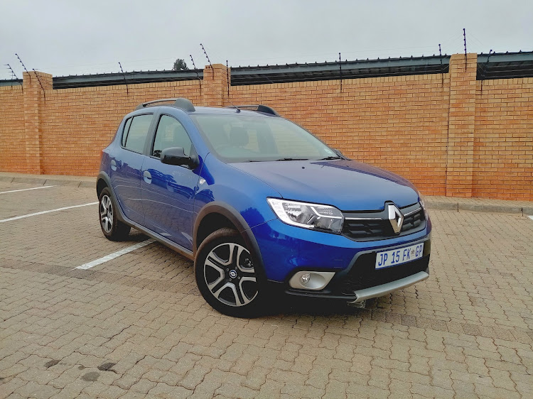 Some offroad height and an approachable price make the Sandero Techroad an appealing crossover. Picture: PHUTI MPYANE