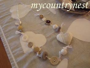 Photo: collana con cuore di stoffa