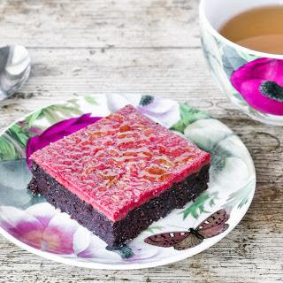 Black Bean Brownie With Berry Brulee [Vegan]