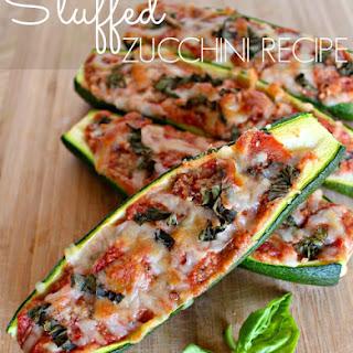Vegetarian Stuffed Zucchini.