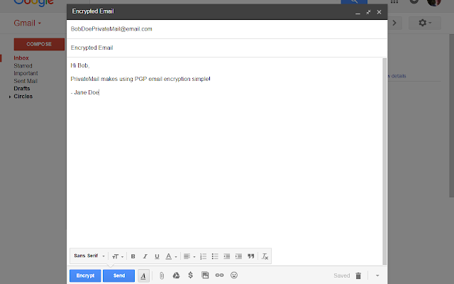 PrivateMail for Gmail