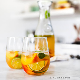 Ginger Peach Sangria.