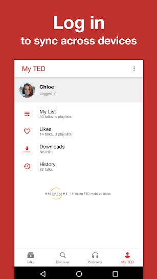 TED screenshot for Android