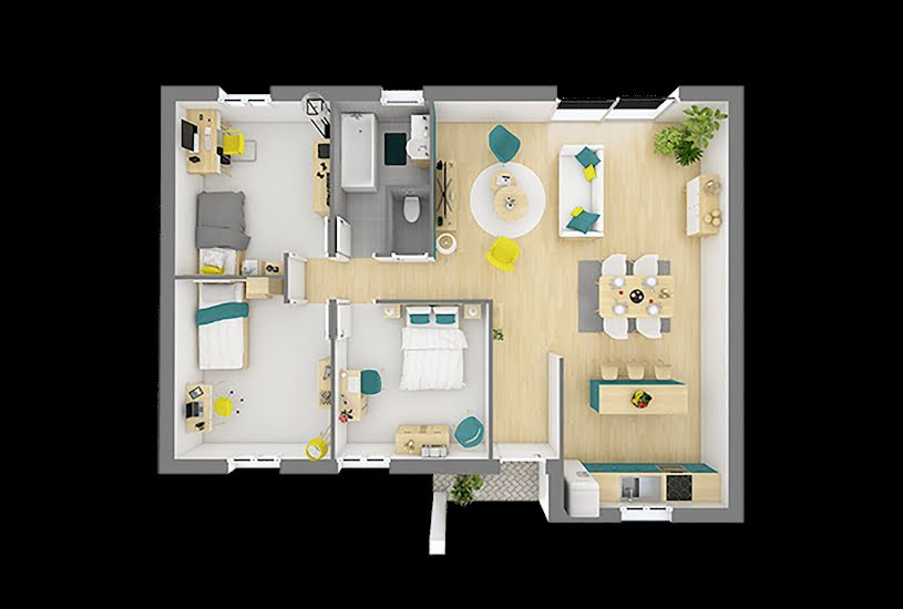 Vente Terrain + Maison - Terrain : 400m² - Maison : 75m² à Saint-Pierre-de-Manneville (76113)