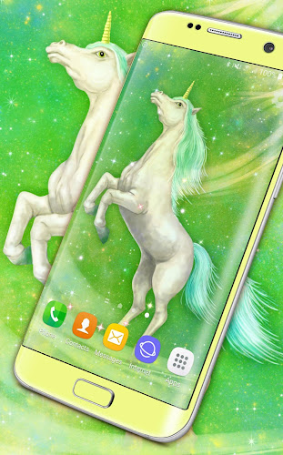 Majestic Unicorn Live Wallpaper Android App Screenshot