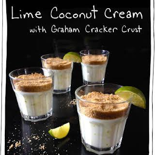 Lime Coconut Custard with Graham Cracker Crust.