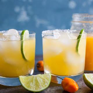 Peach Habanero Margaritas.