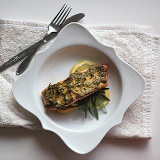 Luis Meléndez – Baked Salmon with a Dijon-Tarragon Crust