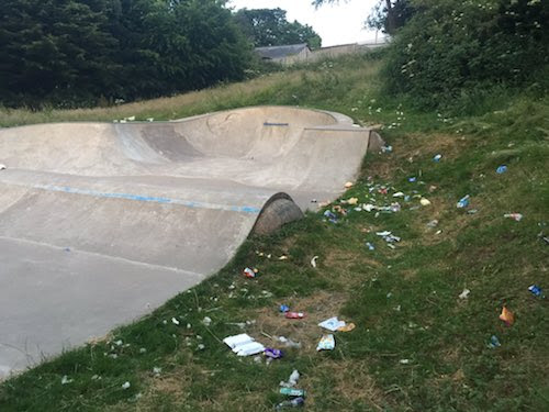 One new sports area opened as another falls to litter