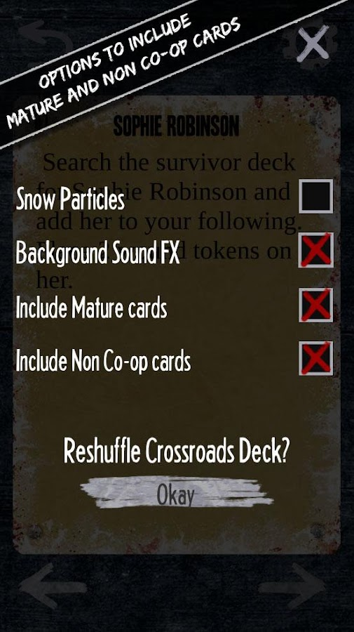 Dead of Winter: Crossroads App- screenshot