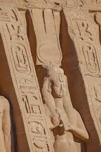 Photo: ABu Simbel - temple of Nefertari, statue of Nefertari