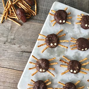 Chocolate-Mint Halloween Spiders