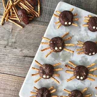 Chocolate-Mint Halloween Spiders.