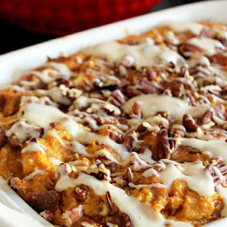 Pumpkin Pie Bread Pudding with Challah