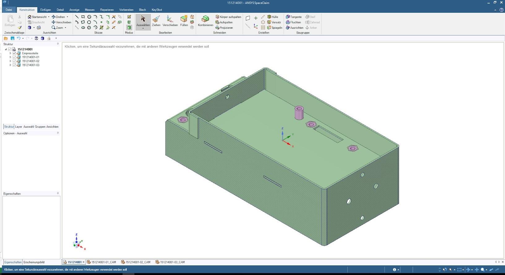 Готовая к запуску в производство модель, полностью разработанная в ANSYS SpaceClaim