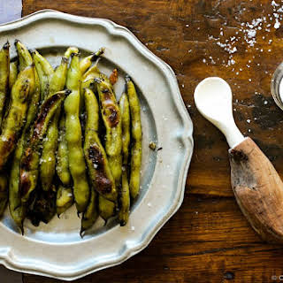 Garlicky Roasted Fava Beans.