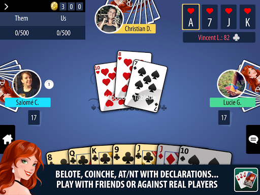 Belote Multiplayer  gameplay | by HackJr.Pw 7