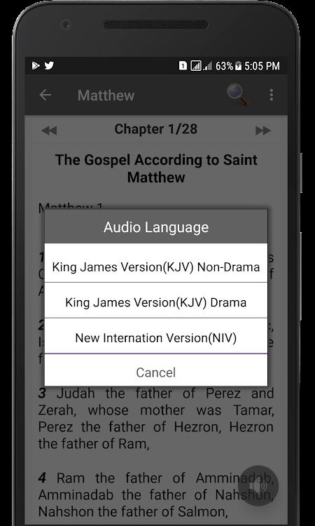 Bible Offline - The Holy Bible in NIV, KJV + Audio