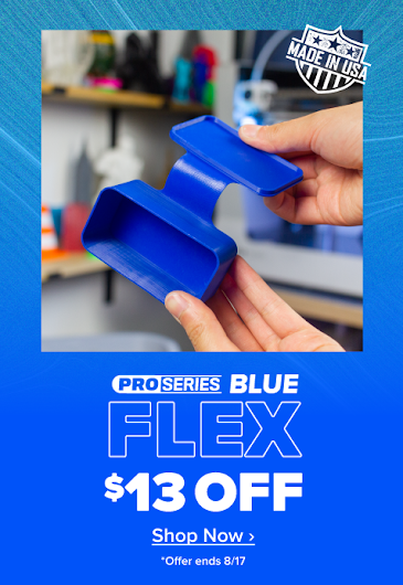 Now is the time to try PRO Series Flex! Save $13 on every Blue PRO Series Flex spool!