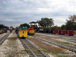 Photo: Rear of Brian Campopiano's train and front of David Hannah's train.      HALS / SWLS 2013-1109  DH3