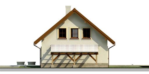 Dom przy Cyprysowej 26 - Elewacja prawa