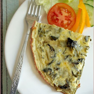 Frittata with Spring greens and Gorgonzola