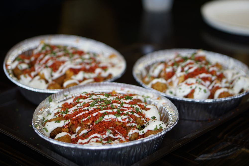Photo of Buffalo Chicken Tater Tots topped with Hot Cheeto crumbles at Rose City Pizza in Rosemead, CA