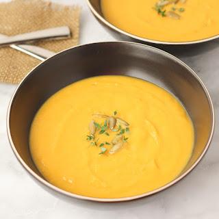 Butternut Squash Leek Soup {Dairy-Free, Paleo}.