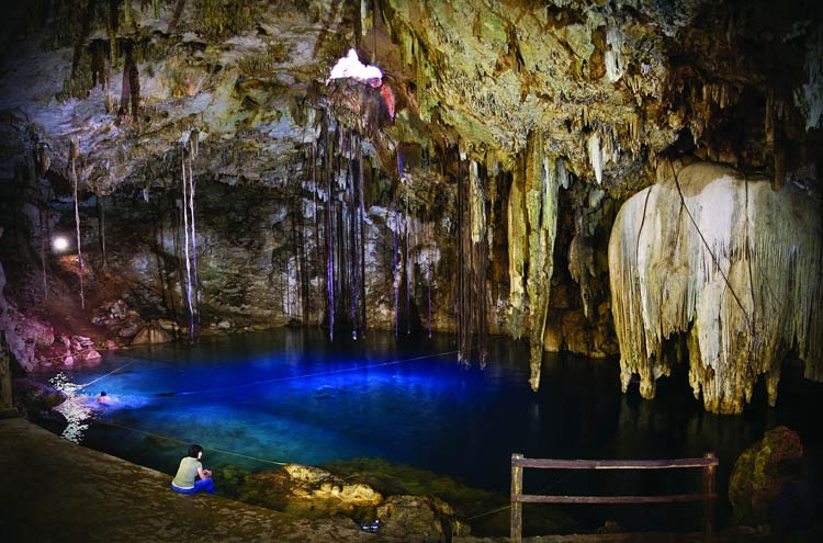 A sacred cenote in Mexico's Yucatan, one of 1,000 in the region.