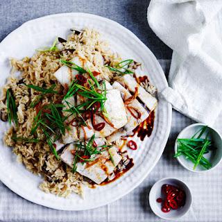 Steamed Barramundi With Shiitake Rice