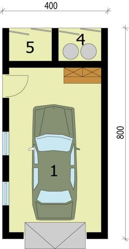 G203 - Rzut garażu