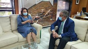 Reunión entre Carmen Crespo y Juan Ignacio Zoido.