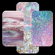 Girly Crystal Glitter Wall  Icon