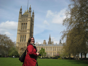 Photo: Shauna takes a quick break from photographing Parliament