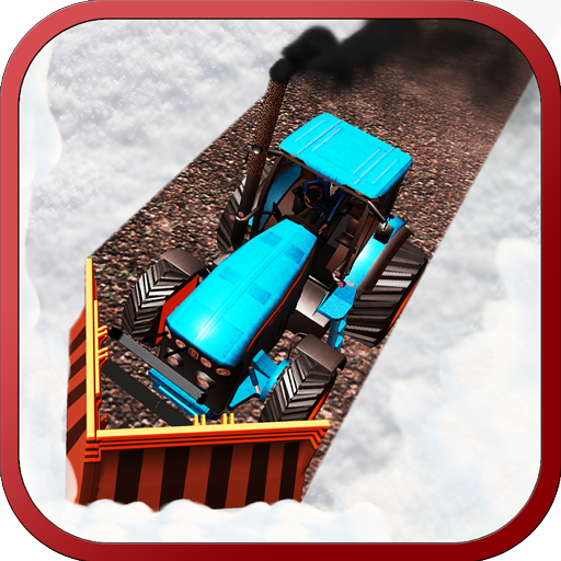 Snow Plow Tractor - Excavator Simulator Games 2017