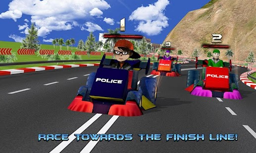 Kids Police Car Racing screenshot 4
